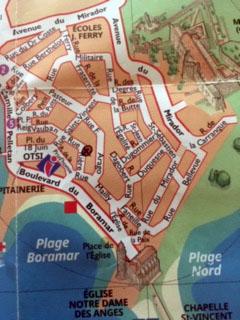 Plan du quartier du Mourè